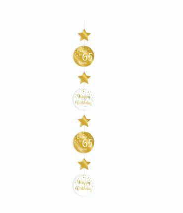 Hanging decoration gold/white - 65