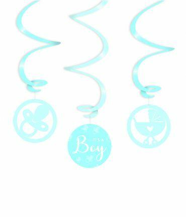 Swirl decorations - It's a boy !