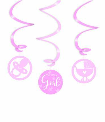 Swirl decorations - It's a girl !