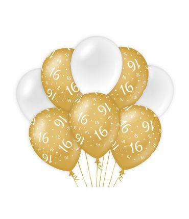Decoration balloons Gold/white - 16