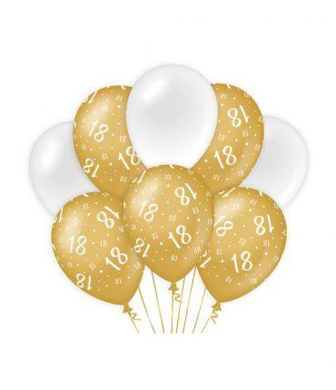 Decoration balloons Gold/white - 18