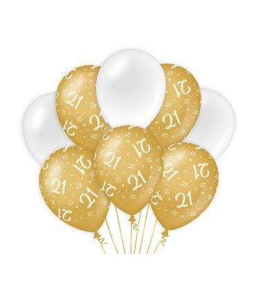 Decoration balloons Gold/white - 21