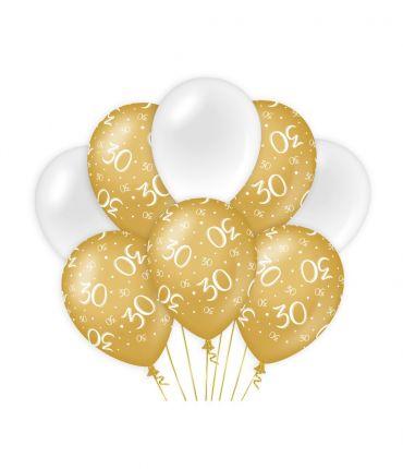 Decoration balloons Gold/white - 30