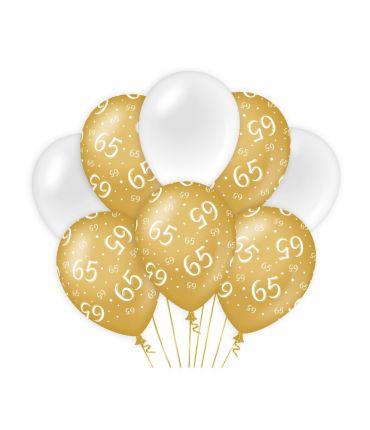 Decoration balloons Gold/white - 65
