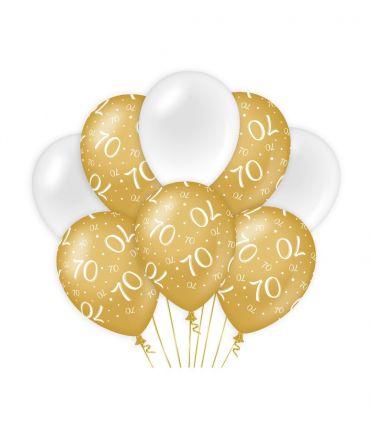 Decoration balloons Gold/white - 70