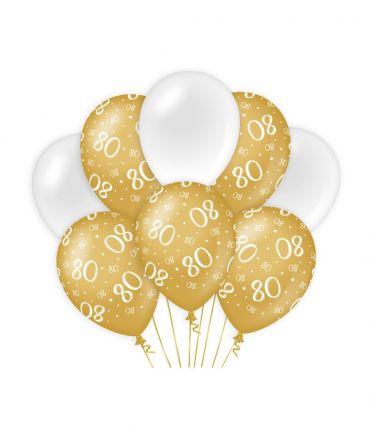 Decoration balloons Gold/white - 80