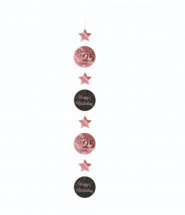 Hanging decoration rose/black - 25