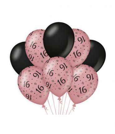 Decoration balloons Rose/black - 16