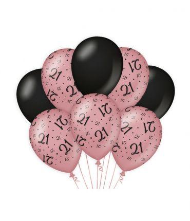 Decoration balloons Rose/black - 21