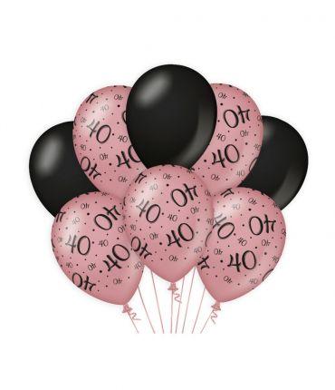 Decoration balloons Rose/black - 40