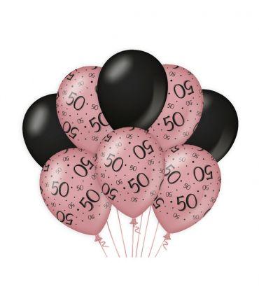 Decoration balloons Rose/black - 50