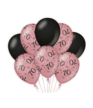 Decoration balloons Rose/black - 70