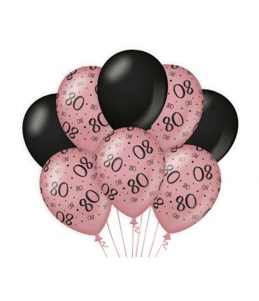 Decoration balloons Rose/black - 80