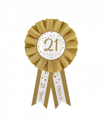 Party Rosettes gold/white - 21