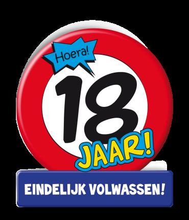 Wenskaarten - 18 jaar verkeersbord