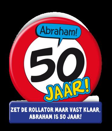 Wenskaarten - Abraham verkeersbord
