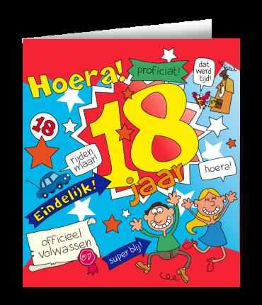 Wenskaarten - 18 jaar cartoon