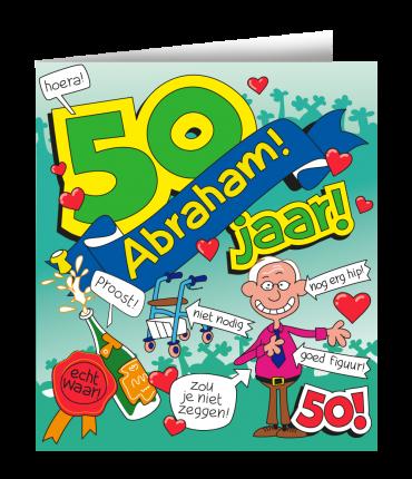 Wenskaarten - Abraham cartoon