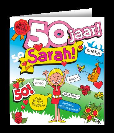 Wenskaarten - Sarah cartoon