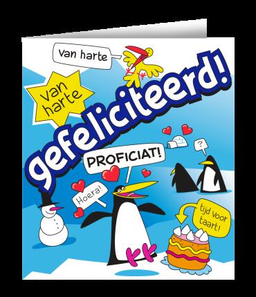 Wenskaarten - Gefeliciteerd cartoon