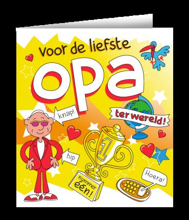 Wenskaarten - Opa cartoon