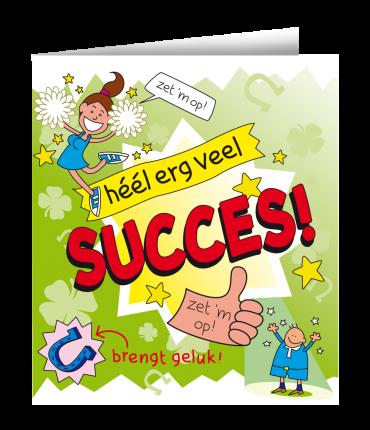 Wenskaarten - Succes cartoon