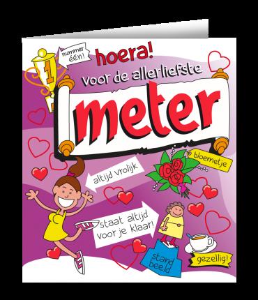 Wenskaarten - Meter cartoon