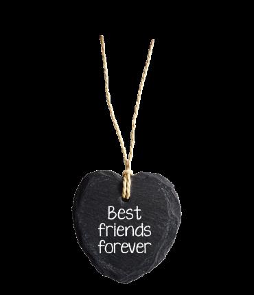 Natuurstenen Hart - Best friends forever