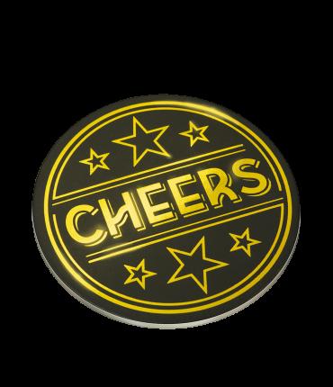 Glossy coasters - Cheers!