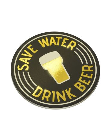 Glossy coasters - Save water