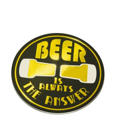 Glossy coasters - Beer is always