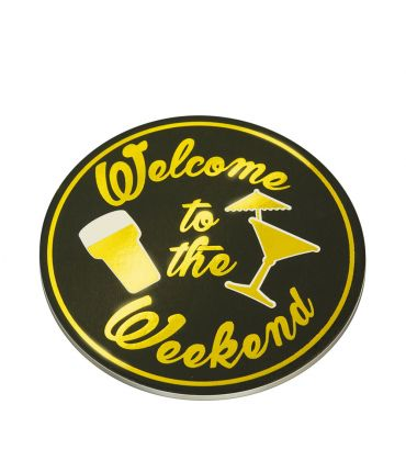 Glossy coasters - Welcome to the weekend