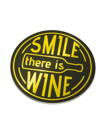 Glossy coasters - Smile, there's wine
