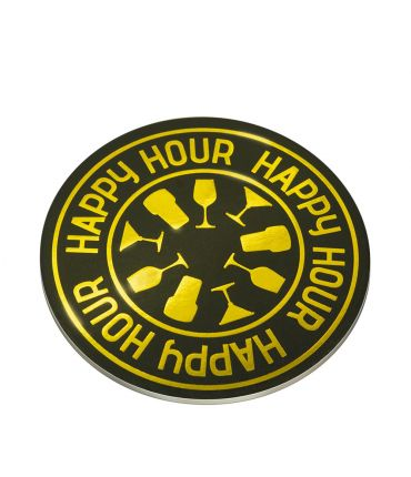 Glossy coasters - Happy hour!