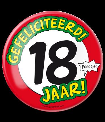 Button XL - 18 jaar