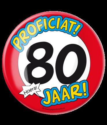 Button XL - 80 jaar
