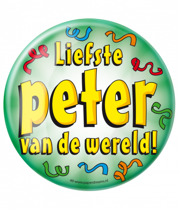 Button XL - Liefste Peter