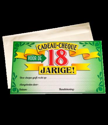 Gift Cheque - 18 jaar