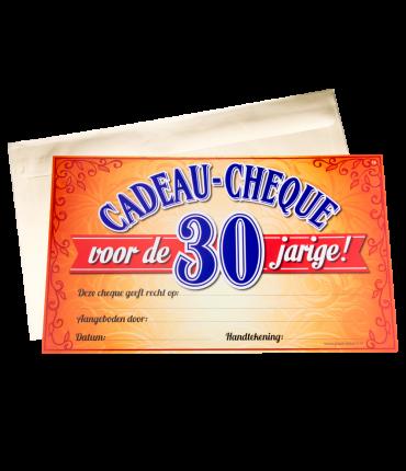 Gift Cheque - 30 jaar