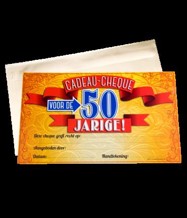 Gift Cheque - 50 jaar