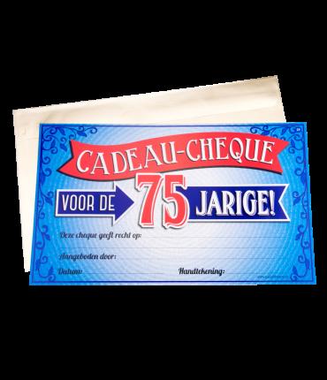 Gift Cheque - 75 jaar