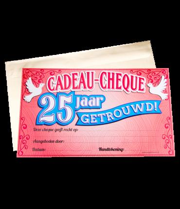 Gift Cheque - 25 jaar getrouwd
