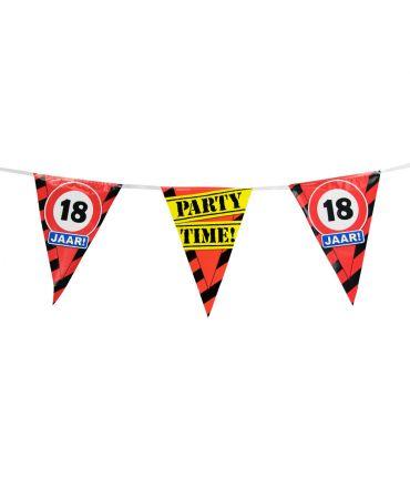 Party Vlaggen - 18 jaar