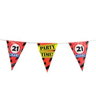 Party Vlaggen - 21 jaar