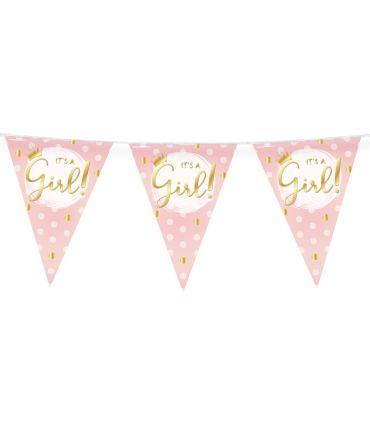 Party Vlaggen - Geboorte meisje