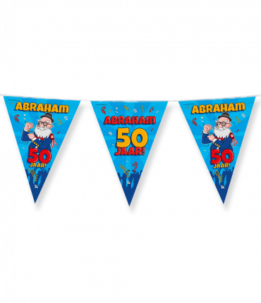 Party Vlaggen - Abraham cartoon