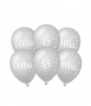 Wedding balloons - Mrs. & Mrs.