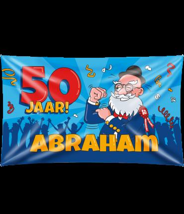Gevel vlag - Abraham cartoon