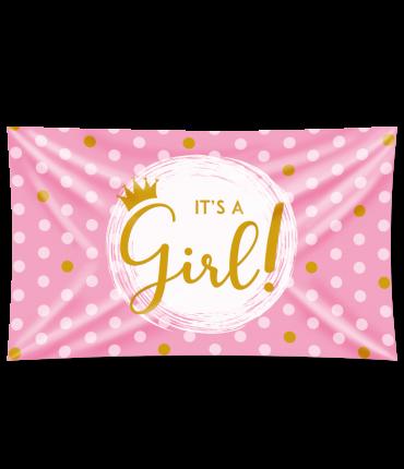 Gevel vlag - It's a girl!