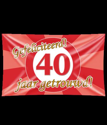 Gevel vlag - 40 jaar getrouwd